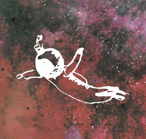 Asthmatic Harp - Lost Astronaut (Artwork: Line K. Hvid & Signe Jacobsen, Close Up)