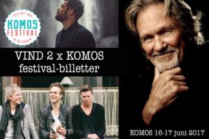 KOMOS - Vind billetter til ny festival i Kongens Have i København